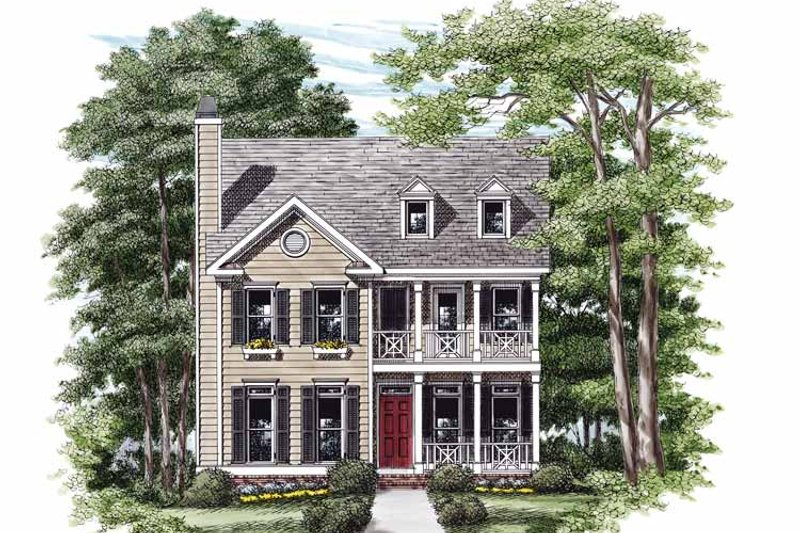 Country Exterior - Front Elevation Plan #927-664