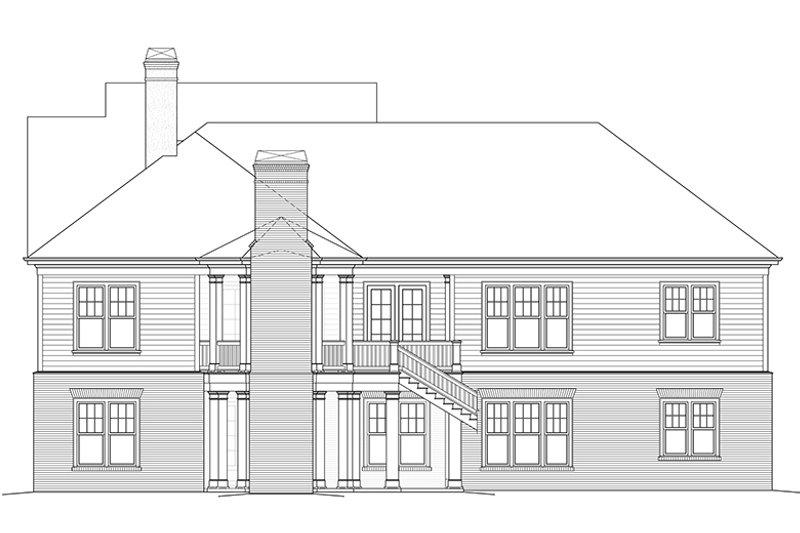 Colonial Exterior - Rear Elevation Plan #429-442 - Houseplans.com