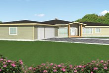 Home Plan - Contemporary Exterior - Front Elevation Plan #117-842