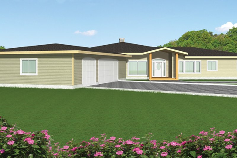 Contemporary Exterior - Front Elevation Plan #117-842