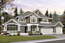 Architectural House Design - Craftsman Exterior - Front Elevation Plan #132-413