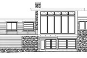 Modern Style House Plan - 3 Beds 2.5 Baths 1850 Sq/Ft Plan #509-17 Exterior - Rear Elevation