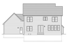 Colonial Exterior - Rear Elevation Plan #1010-157