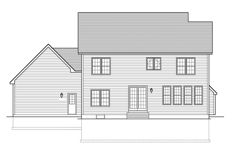 Colonial Exterior - Rear Elevation Plan #1010-157 - Houseplans.com