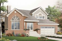 House Design - European Exterior - Front Elevation Plan #23-2390