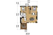 Contemporary Style House Plan - 2 Beds 1 Baths 900 Sq/Ft Plan #25-4525 Floor Plan - Main Floor Plan