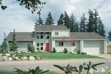 House Plan Design - Contemporary Exterior - Front Elevation Plan #72-743