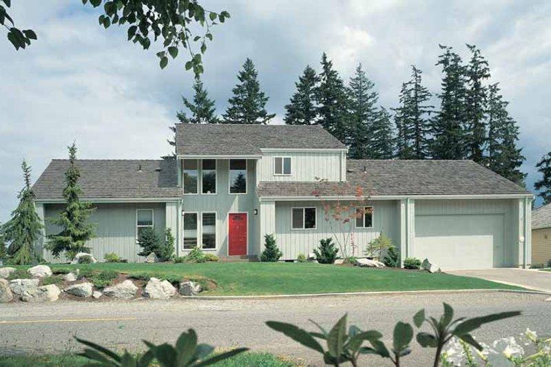 House Blueprint - Contemporary Exterior - Front Elevation Plan #72-743