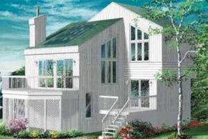 Modern Exterior - Front Elevation Plan #25-2288