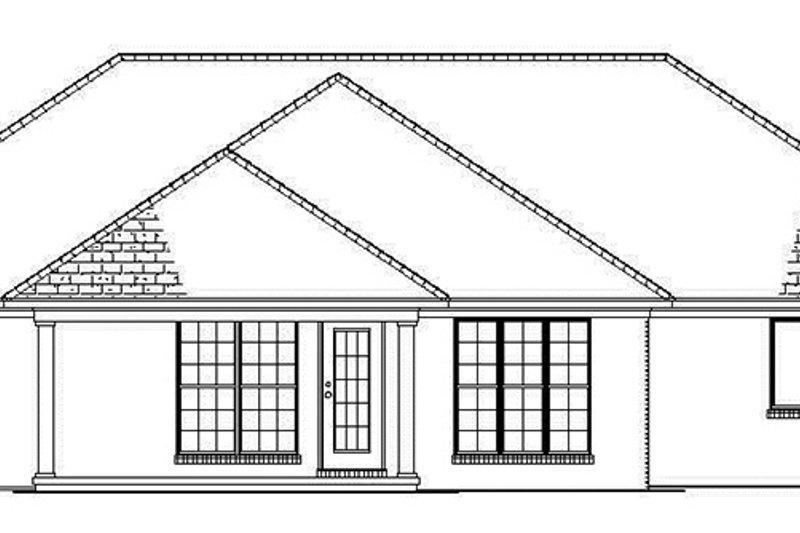 Ranch Exterior - Rear Elevation Plan #17-2841 - Houseplans.com