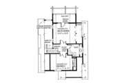 Cabin Style House Plan - 3 Beds 2 Baths 1370 Sq/Ft Plan #118-167 Floor Plan - Upper Floor Plan