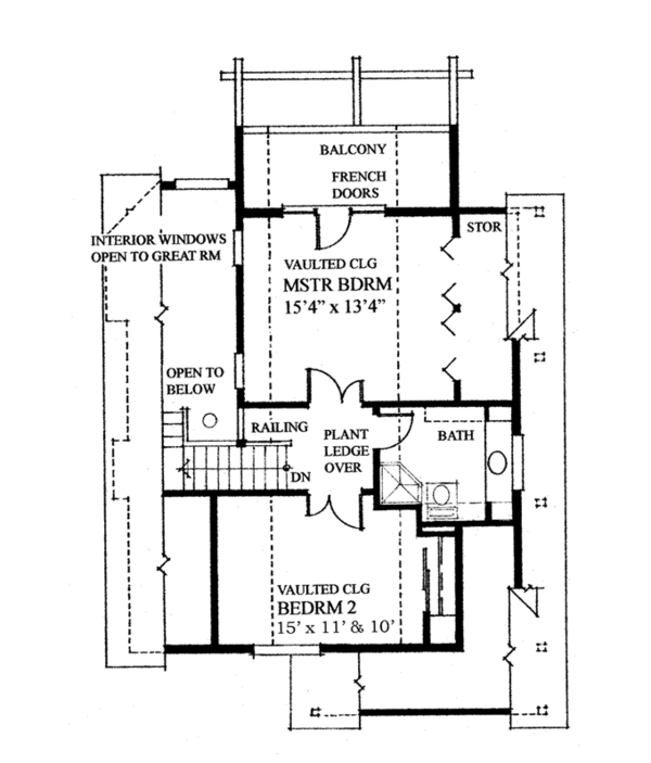 Cabin Floor Plan - Upper Floor Plan Plan #118-167