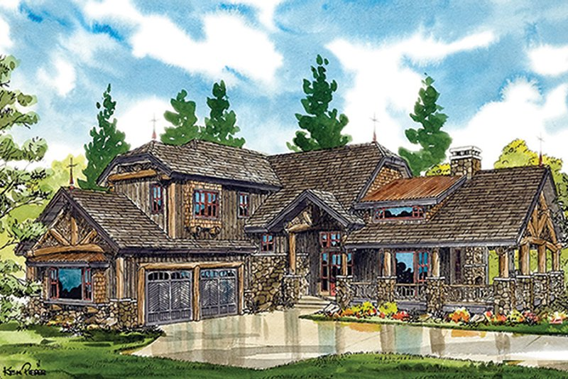 Cabin Exterior - Front Elevation Plan #942-36 - Houseplans.com