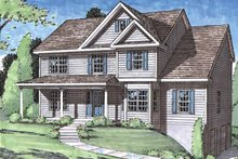 Home Plan - Classical Exterior - Front Elevation Plan #1029-53