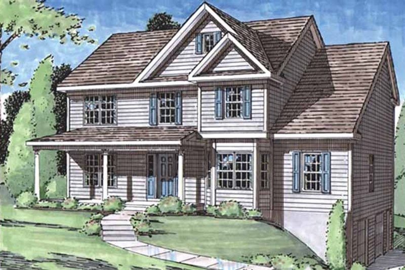 Classical Exterior - Front Elevation Plan #1029-53