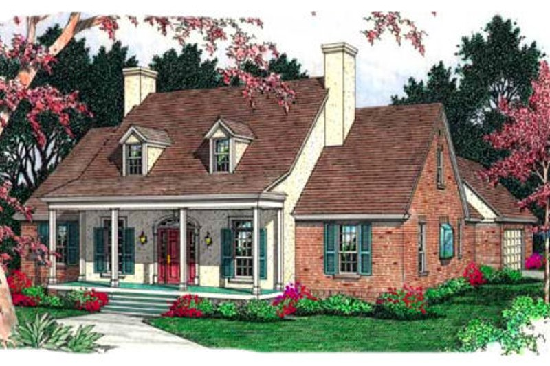 Southern Exterior - Front Elevation Plan #406-149