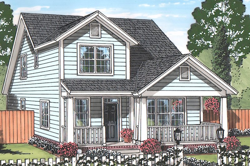 Country Exterior - Front Elevation Plan #513-2163 - Houseplans.com