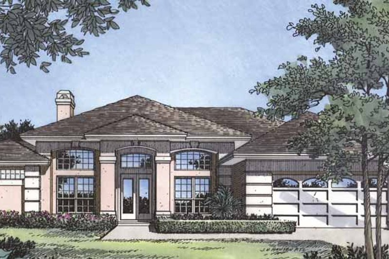 Mediterranean Exterior - Front Elevation Plan #417-451