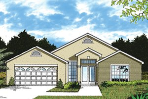 Mediterranean Exterior - Front Elevation Plan #417-845