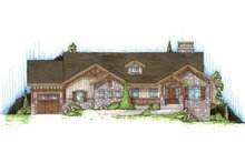 Craftsman Exterior - Front Elevation Plan #945-88