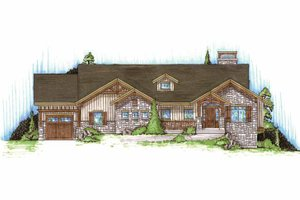 Craftsman Exterior - Front Elevation Plan #945-88