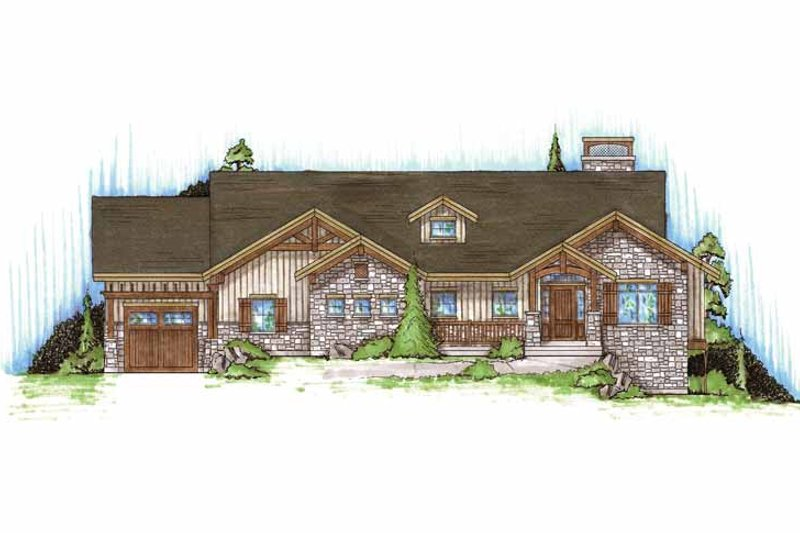 House Plan Design - Craftsman Exterior - Front Elevation Plan #945-88