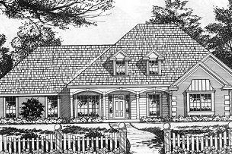 Traditional Exterior - Front Elevation Plan #40-378