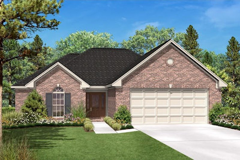 Country Style House Plan - 3 Beds 2 Baths 1600 Sq/Ft Plan #430-20