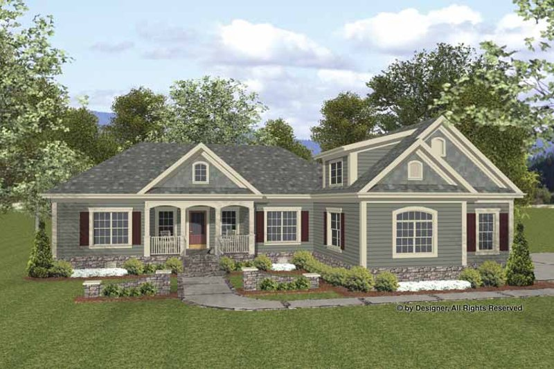 Home Plan - Traditional Exterior - Front Elevation Plan #56-677