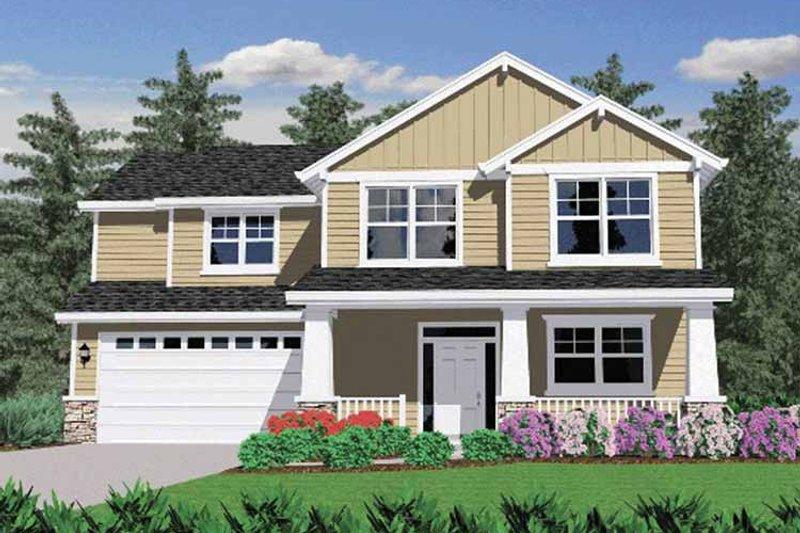 Prairie Exterior - Front Elevation Plan #509-242 - Houseplans.com