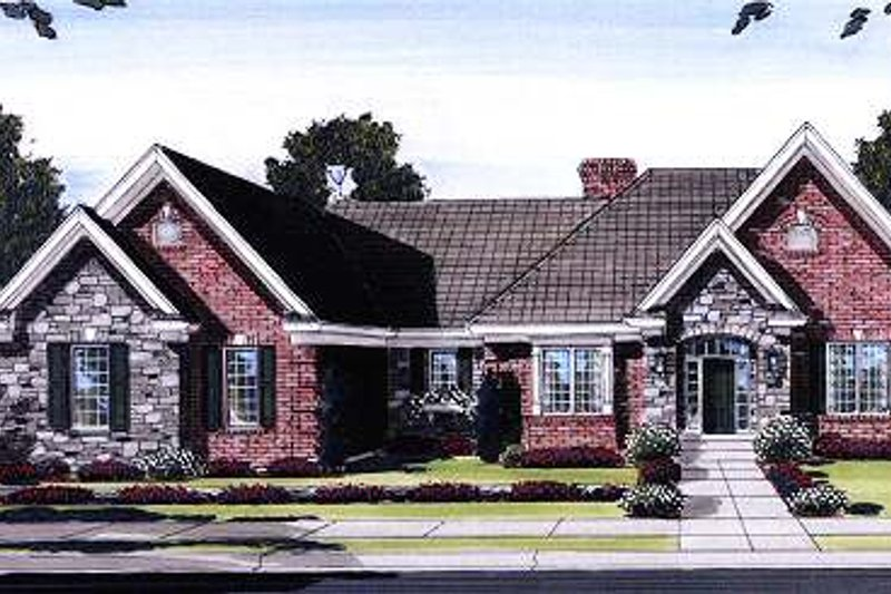 Ranch Exterior - Front Elevation Plan #46-404