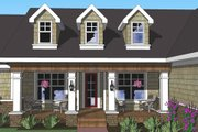 Craftsman Style House Plan - 3 Beds 2.5 Baths 1897 Sq/Ft Plan #51-515 Exterior - Other Elevation