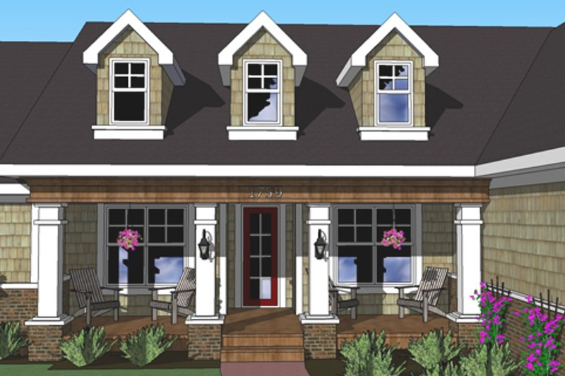 Craftsman Exterior - Other Elevation Plan #51-515 - Houseplans.com
