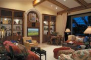 Mediterranean Style House Plan - 4 Beds 4.5 Baths 4398 Sq/Ft Plan #930-107 Interior - Family Room