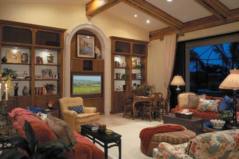 Mediterranean Interior - Family Room Plan #930-107 - Houseplans.com