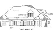 Traditional Style House Plan - 4 Beds 3 Baths 3033 Sq/Ft Plan #17-2121 Exterior - Rear Elevation