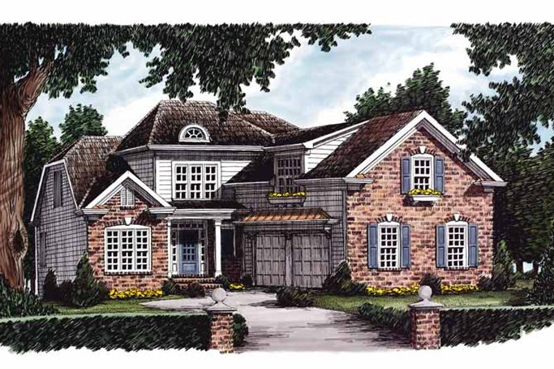 Colonial Exterior - Front Elevation Plan #927-621