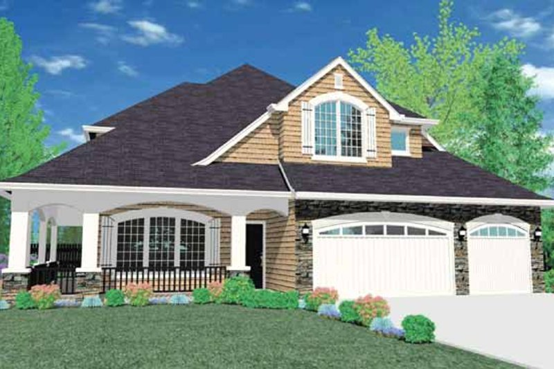 Traditional Exterior - Front Elevation Plan #509-374