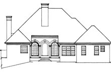 House Plan Design - Country Exterior - Rear Elevation Plan #429-79