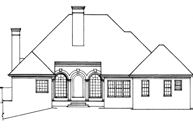 Country Exterior - Rear Elevation Plan #429-79 - Houseplans.com