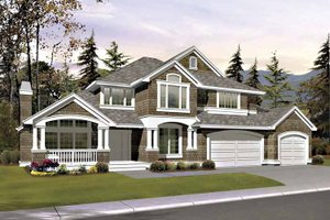 Craftsman Exterior - Front Elevation Plan #132-413