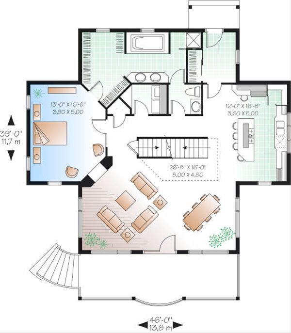 Traditional Floor Plan - Main Floor Plan Plan #23-851