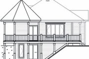 Cottage Style House Plan - 1 Beds 1 Baths 840 Sq/Ft Plan #23-847 Exterior - Rear Elevation