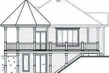 Cottage Exterior - Rear Elevation Plan #23-847