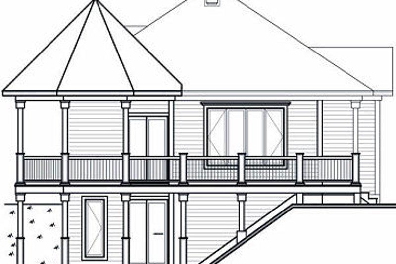 Cottage Exterior - Rear Elevation Plan #23-847 - Houseplans.com