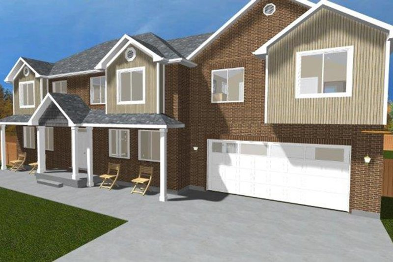Traditional Exterior - Front Elevation Plan #1060-18 - Houseplans.com