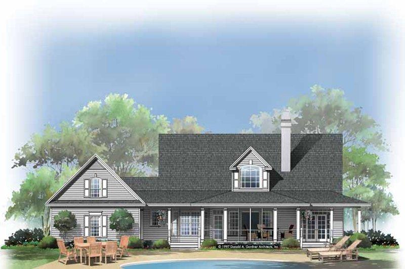 Home Plan - Victorian Exterior - Rear Elevation Plan #929-289