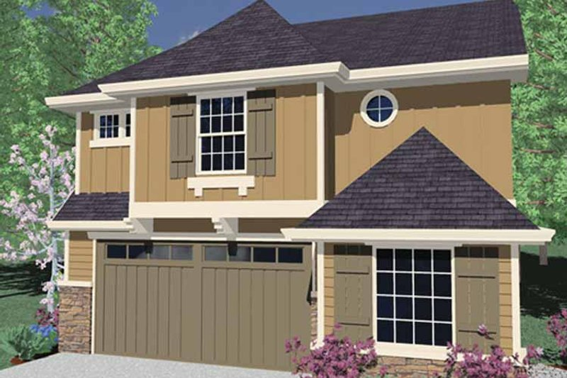 Country Exterior - Front Elevation Plan #509-234