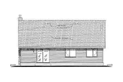 Traditional Style House Plan - 3 Beds 2 Baths 1368 Sq/Ft Plan #18-324 Exterior - Rear Elevation