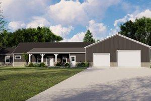 House Blueprint - Farmhouse Exterior - Front Elevation Plan #1064-117